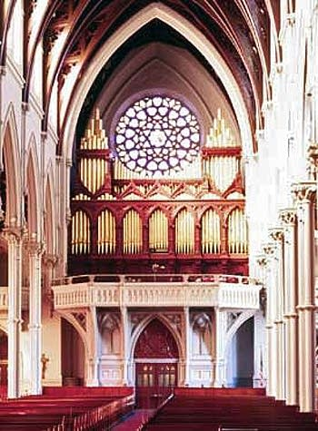 1875 Hook & Hastings organ at Holy Cross Cathedral, Boston, Massachusetts