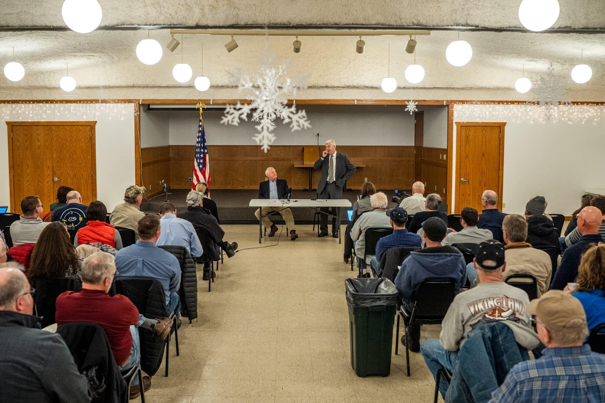 U.S. Reps. Collin Peterson and Tom Emmer hold a town hall.
