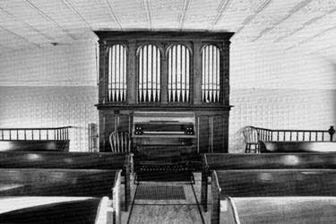 1884 Schuelke organ at Emmanuel Evangelical Lutheran Church, Mecan, WI