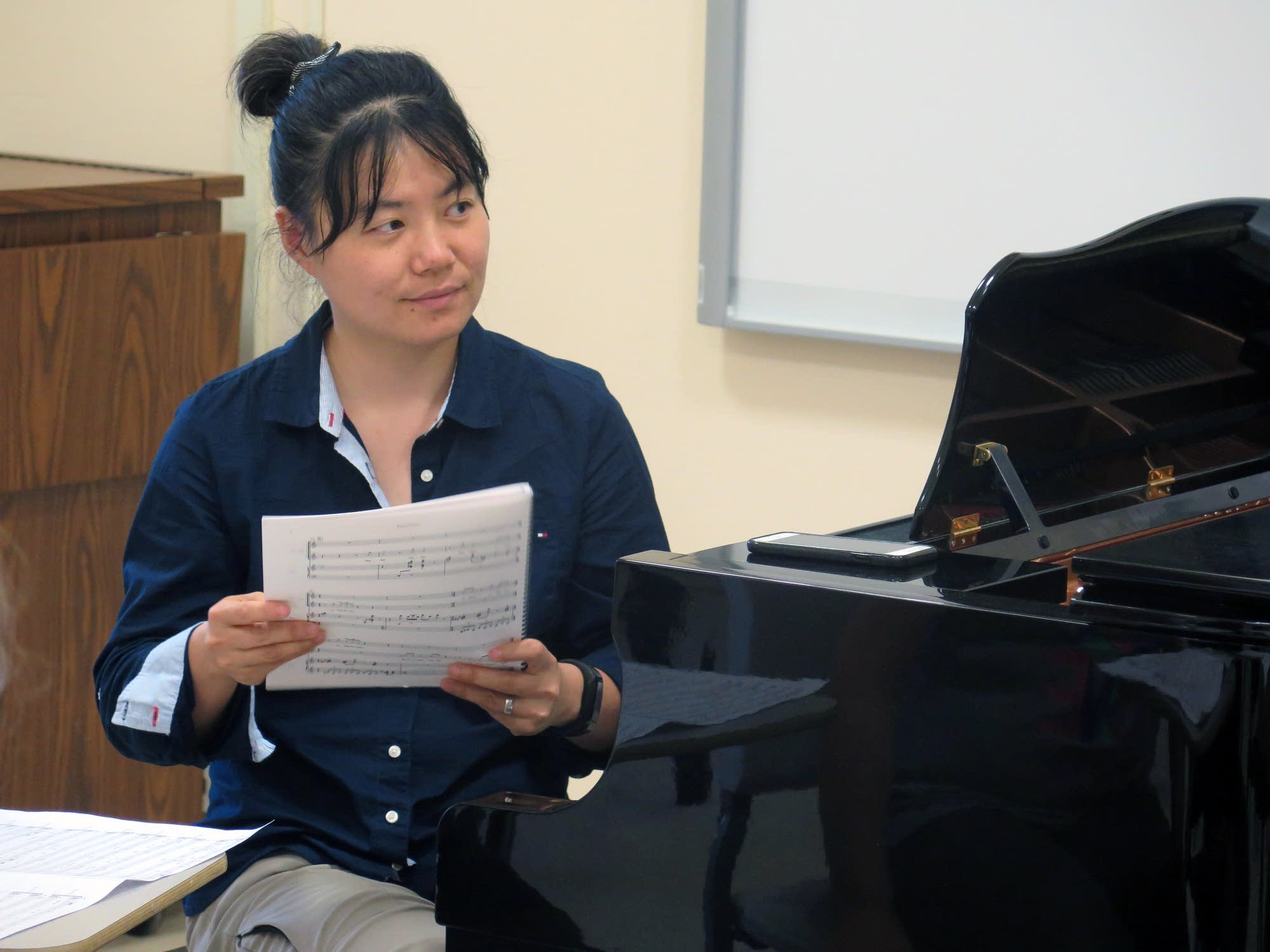 New York composer Wang Jie's wrote the opera, 'It Rained on Shakopee.'