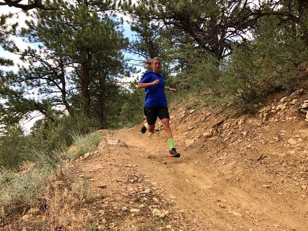 Courtney Dauwalter on a training run.