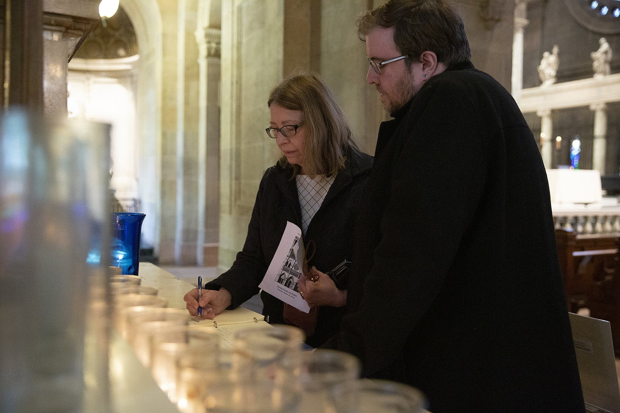 Cheryl and Alex Miller leave a message in support of Notre Dame.