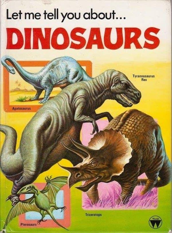 Vintage dinosaurs book
