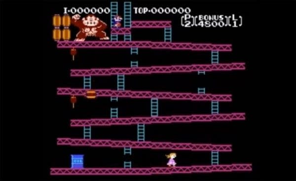 Screen shot hacked Donkey Kong