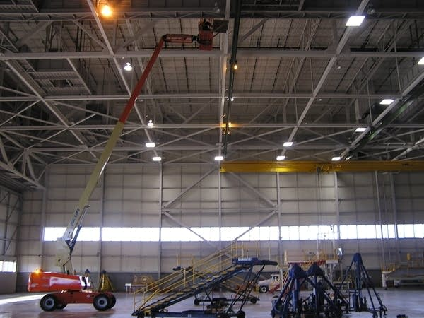 Former Northwest hangar