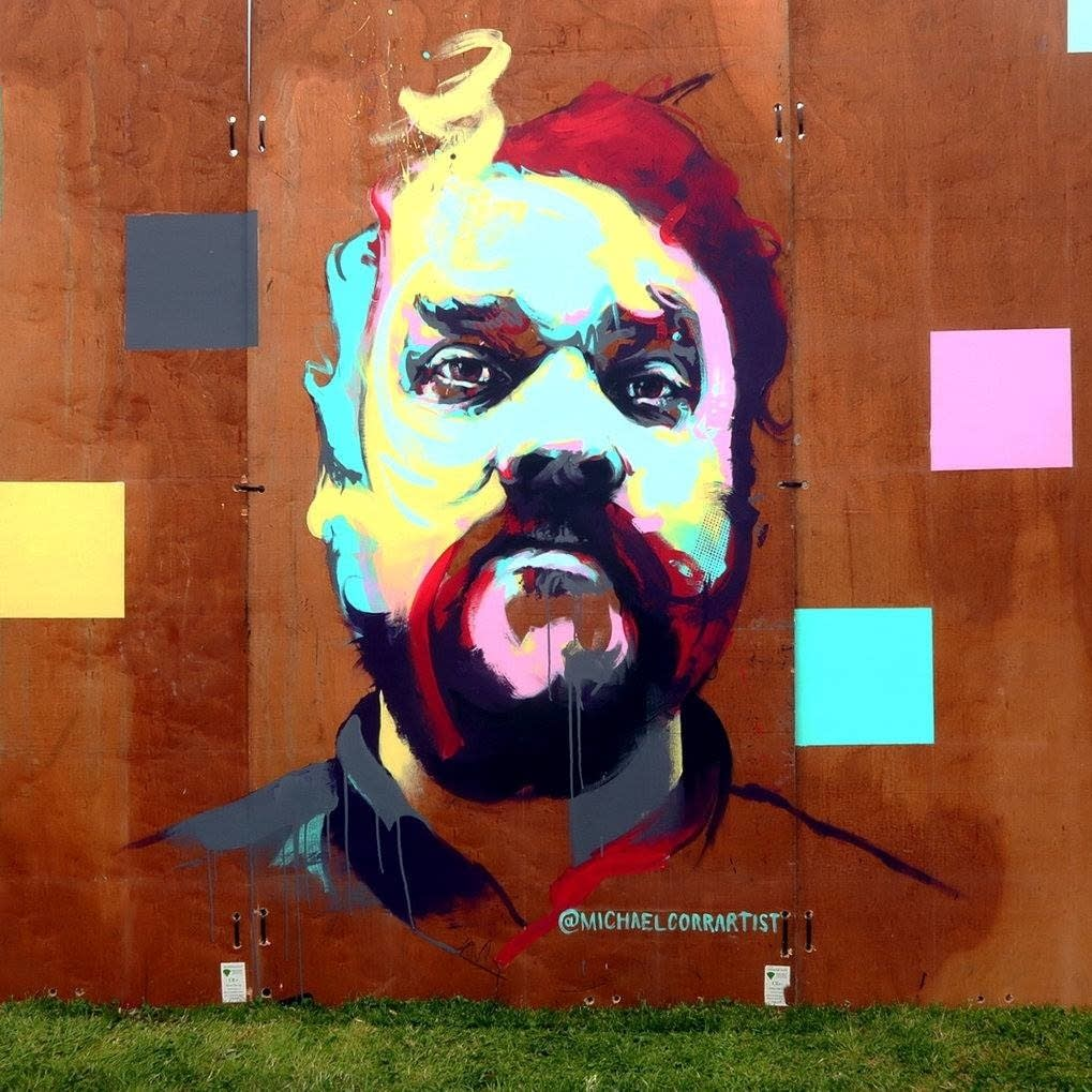 A mural in Glasgow depicts Scott Hutchison.