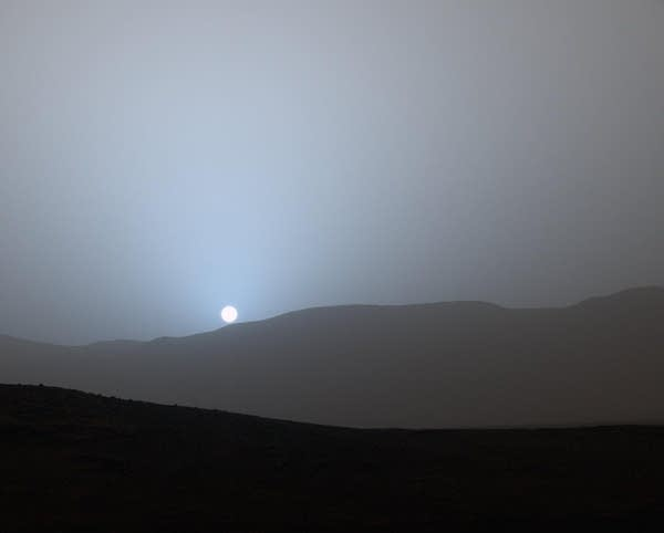 Sunset in Mars' Gale Crater