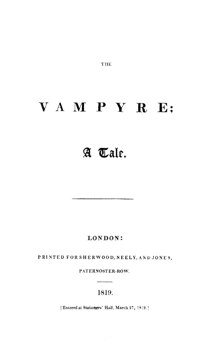 'The Vampyre'