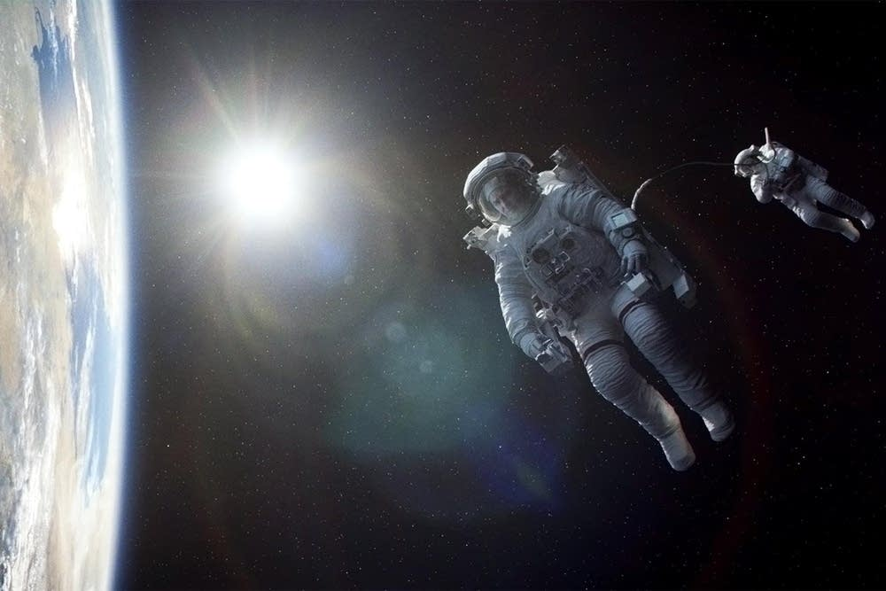 "George Clooney and Sandra Bullock in ""Gravity"""