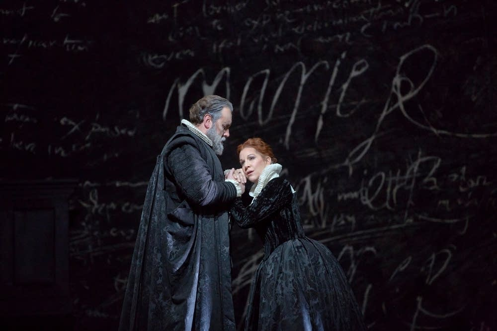 Rose as Talbot and DiDonato as Maria Stuarda