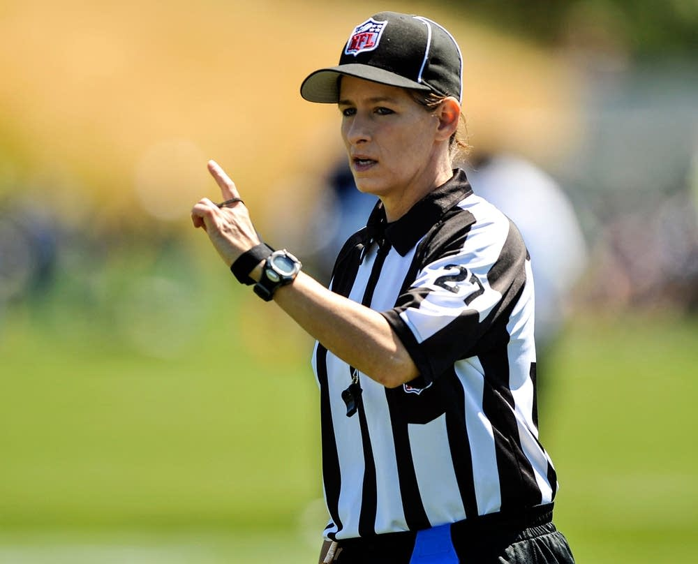 First NFL female official works tonights Packer game  Minnesota Public Radio News