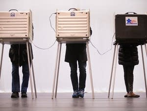 Voters casts their ballots in Chicago.