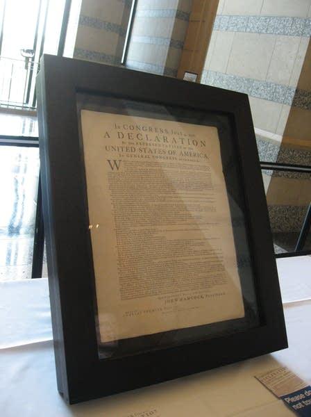 Declaration on display