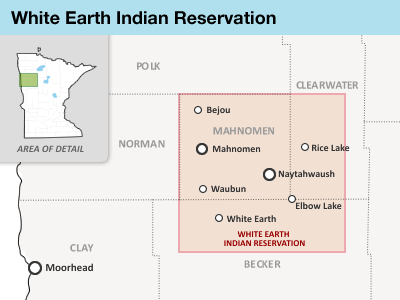 Map: White Earth Indian Reservation