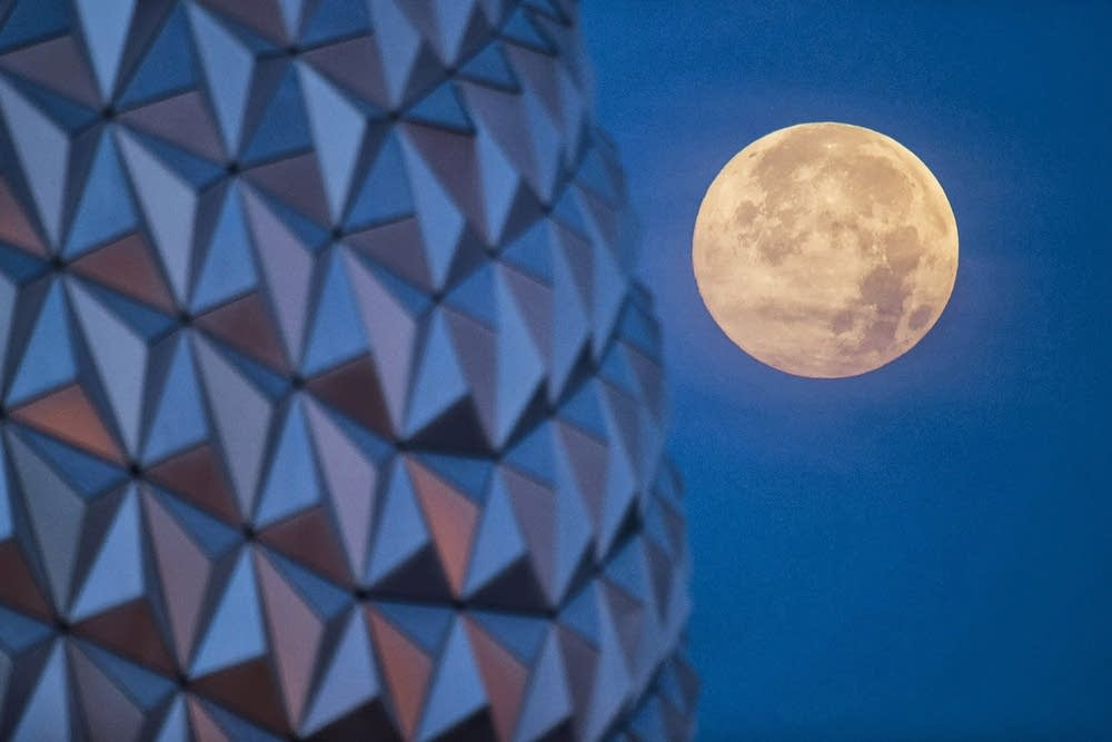 The Supermoon Over Walt Disney World Resort