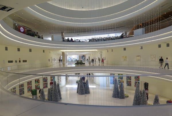 New atrium at the Mall of America's north entrance