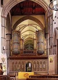 1989 Mander organ at Rochester Cathedral, England, UK