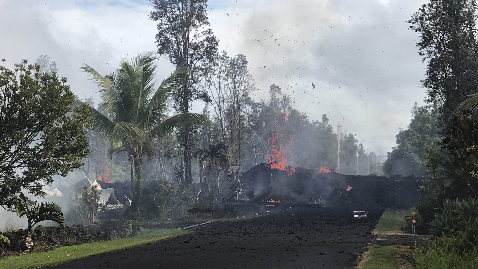 Lava Shoots Through Hawaii Neighborhood After Volcano Eruption