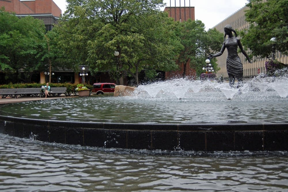 Fountain in Rice Park, downtown St. Paul