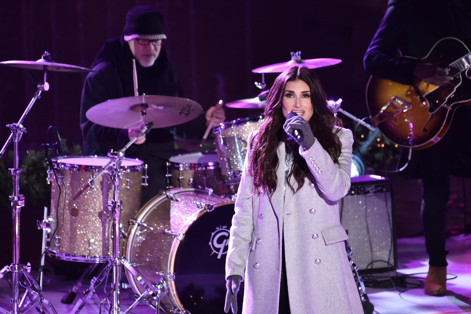 Idina Menzel performing in New York
