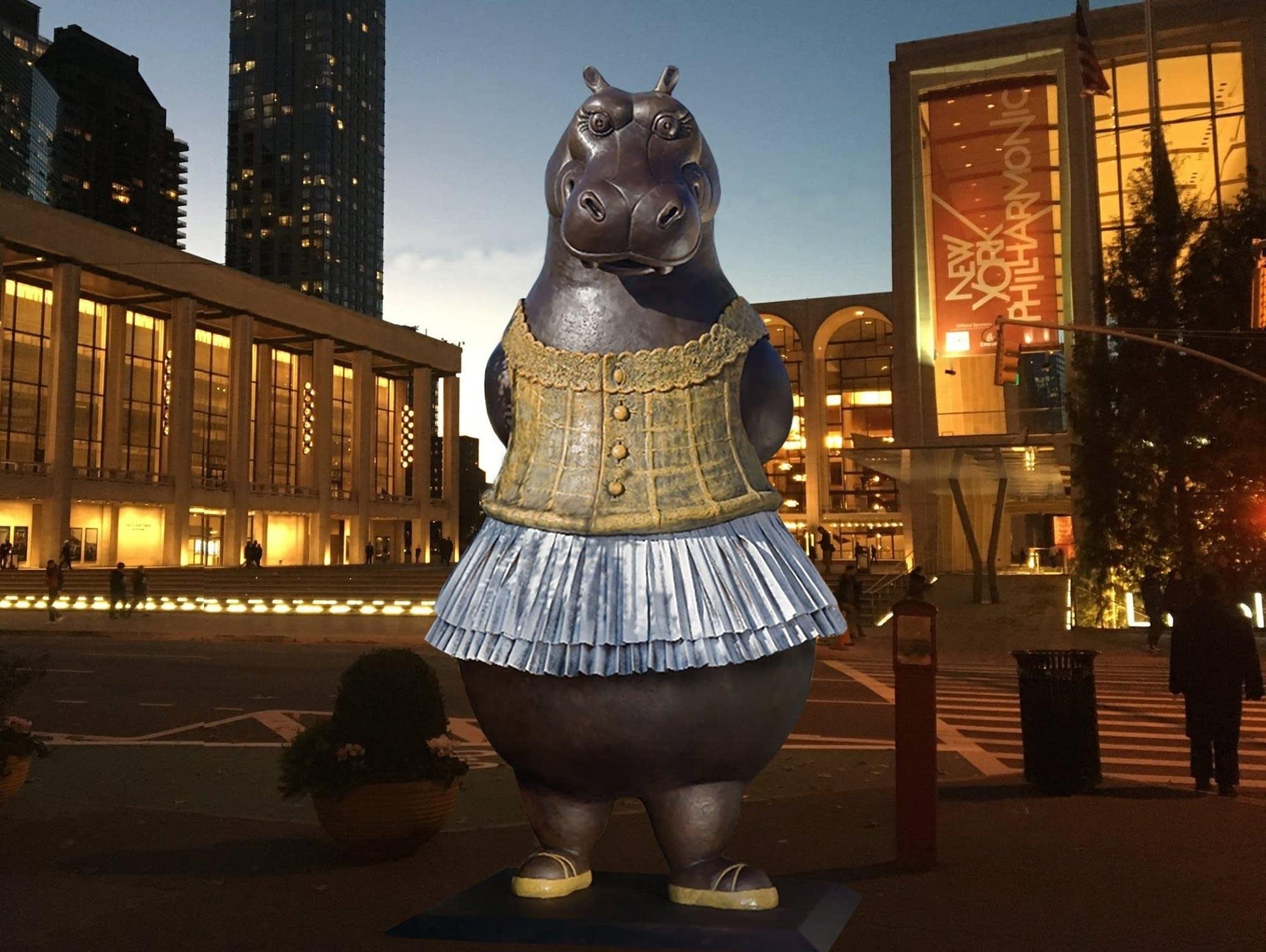 A photoillustration of 'Hippo Ballerina'