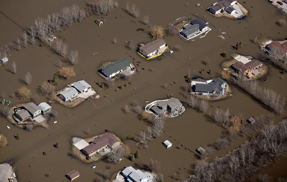 Flood aerial - West Fargo, N.D.