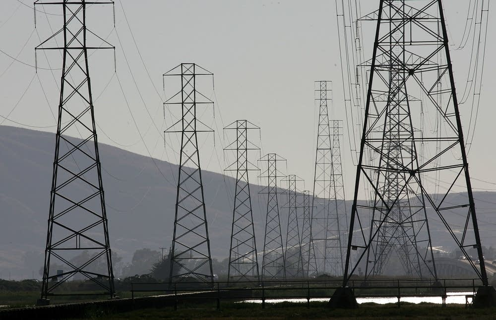 Power towers are seen as July 24, 2006 in Sonoma,