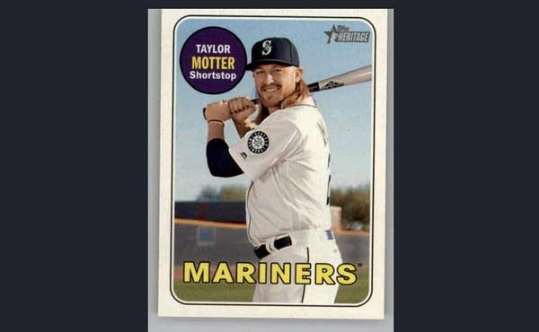 A 2018 Taylor Motter Heritage baseball card.