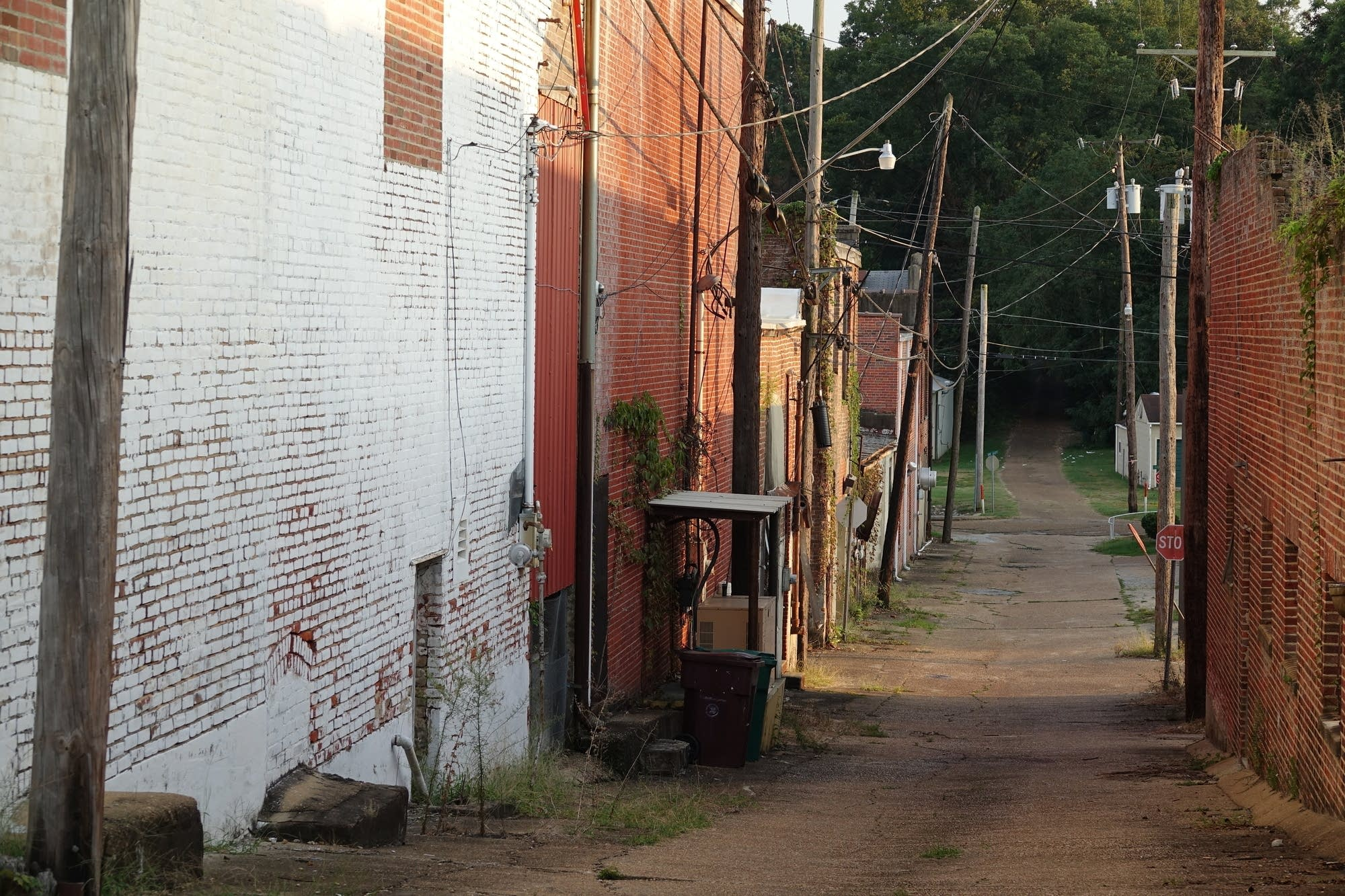The alley behind Tardy Furniture in Winona, Mississippi.