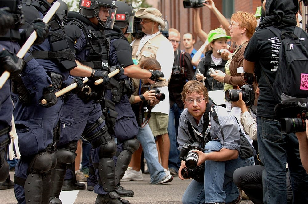 Photographer at protests