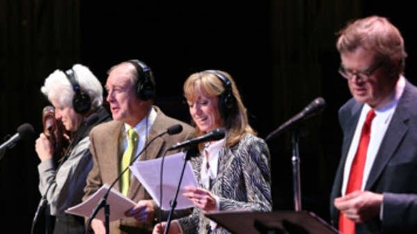 Fred Newman, Tim Russell, Sue Scott and Garrison Keillor