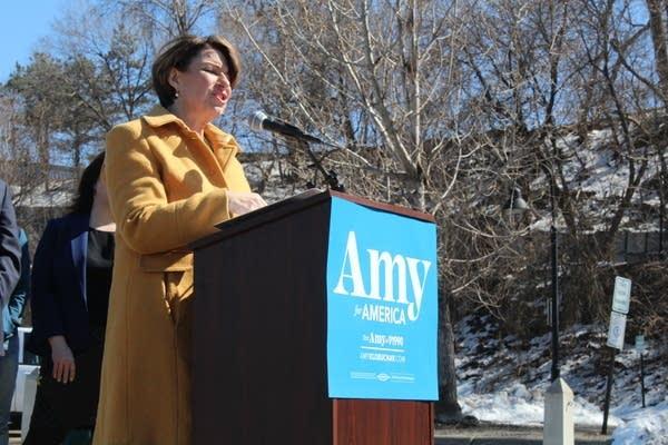 Sen. Amy Klobuchar campaigns April 14, 2019