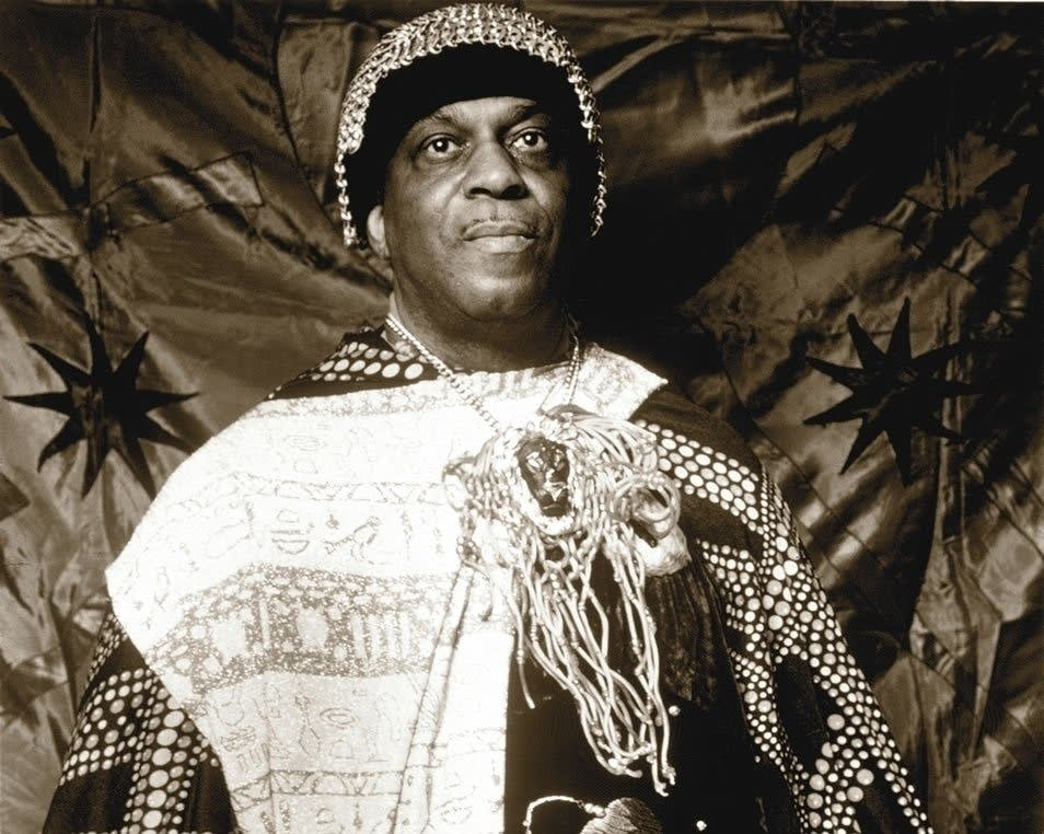 portrait of jazz musician Sun Ra