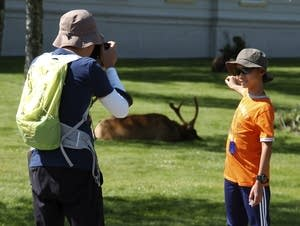 Misbehaving tourists at national parks