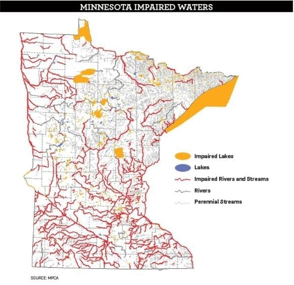 Map of impaired waters