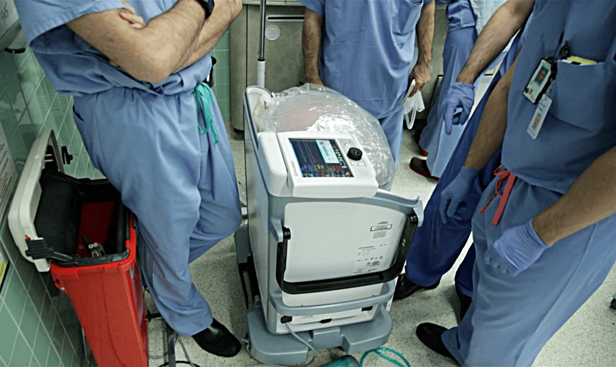 Lung transplant device