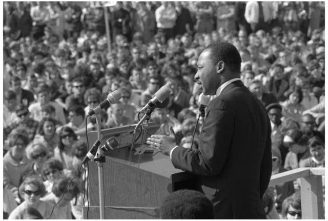 Martin Luther King Jr. speaks at the U of Minn., 1