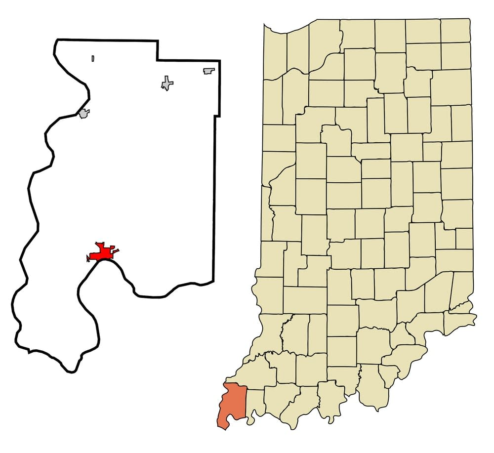 Map showing Posey County, Ind.