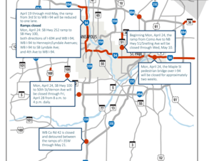 This week's traffic impacts.