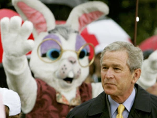 Bush and the bunny