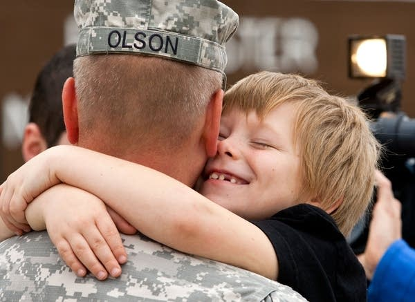 Hugging father