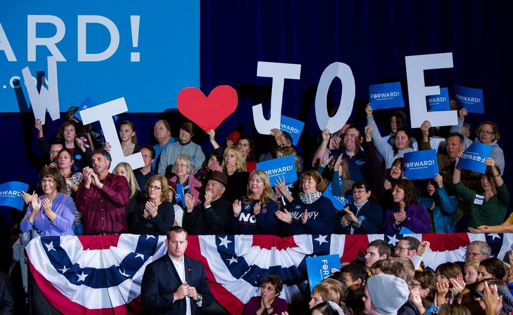 Crowd turns out for Joe Biden