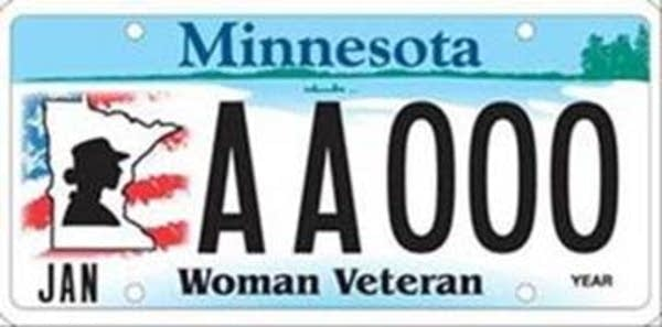 New Minnesota veteran's license plate
