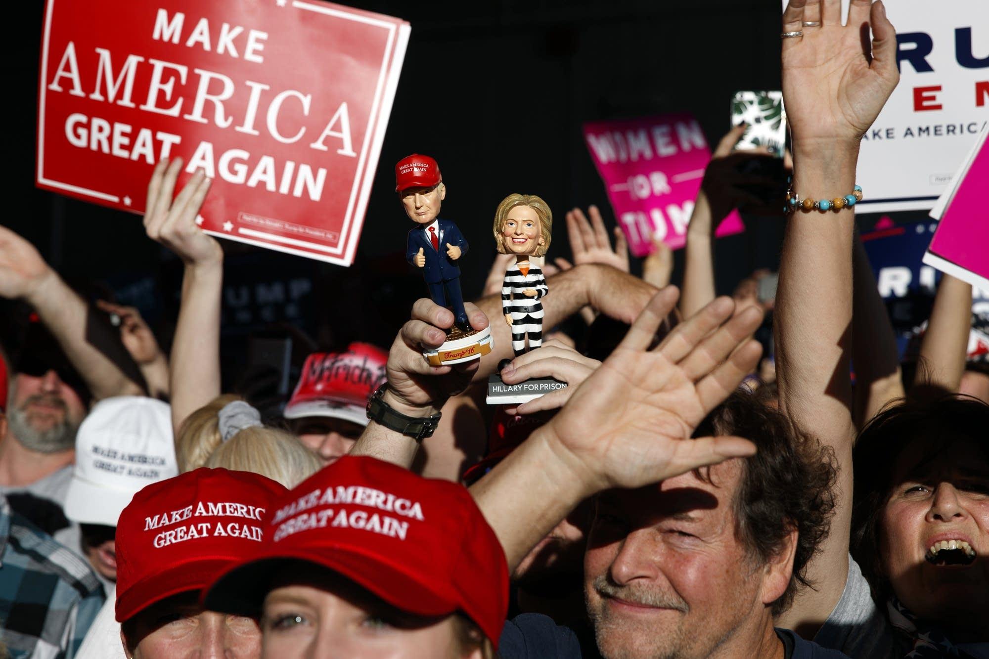 The scene of a Donald Trump campaign rally in Minneapolis