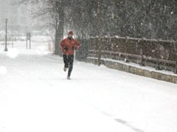 Determined runner