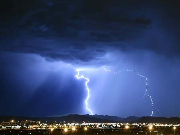 Strong Thunderstorms Hit Las Vegas
