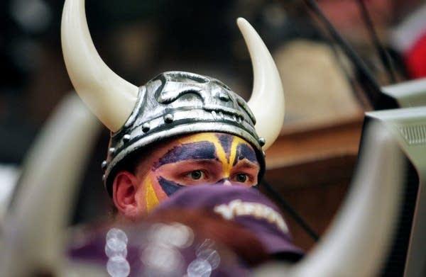 Vikings fan Tom Nickerson