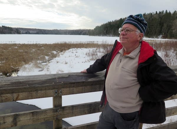 Paul Stolen of Friends of the Headwaters looks out on La Salle Lake.
