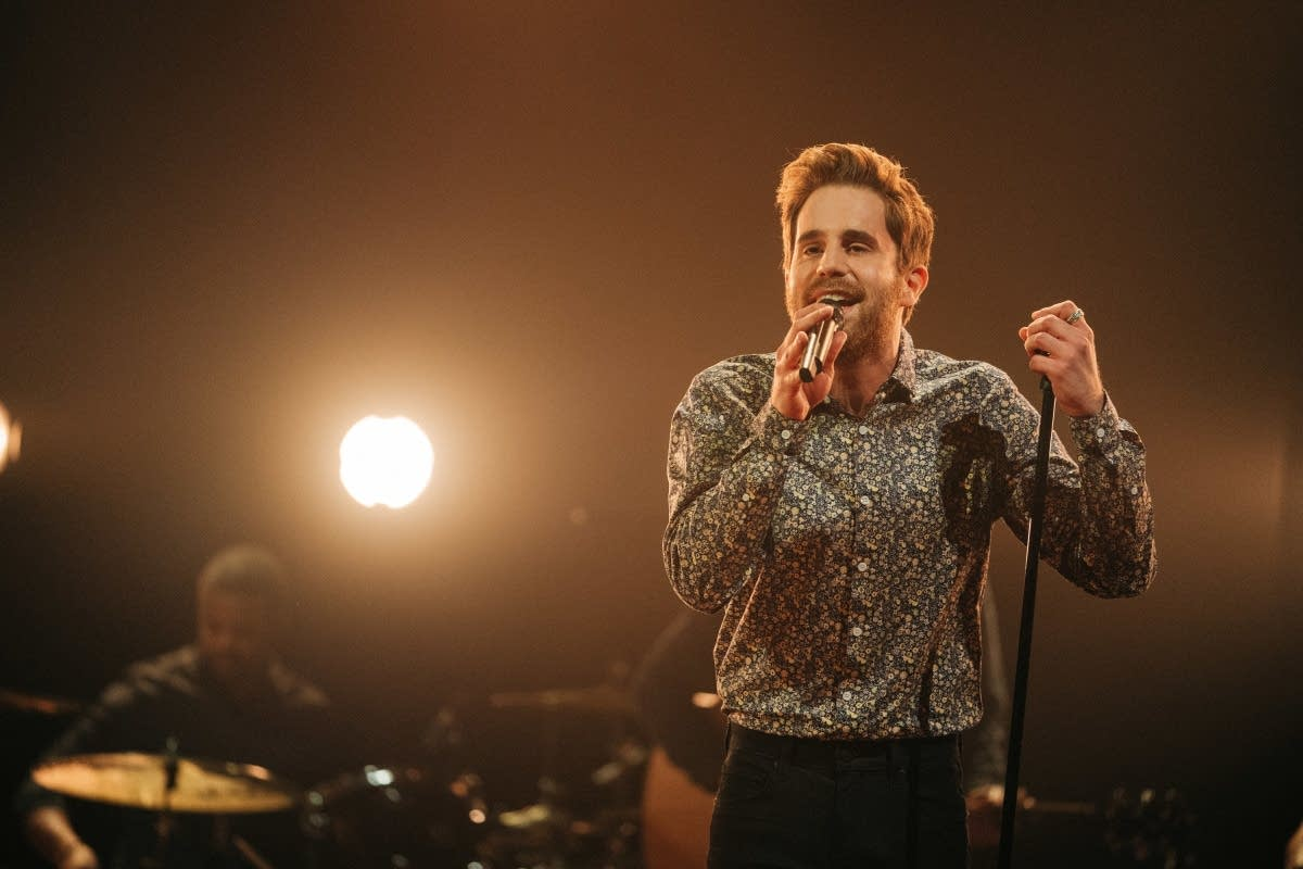 Ben Platt performing on 'The Late Late Show with James Corden'
