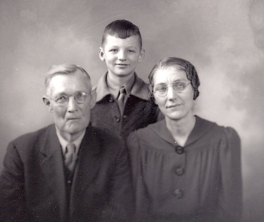 Portrait of Gust, Esther, and Ted Akerlund, 1945